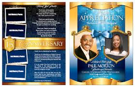 Church Programs Templates Pastor And Wife Anniversary Celebration Program Bulletins Ar On
