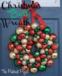 a christmas y christmas ball wreath the pinterest project