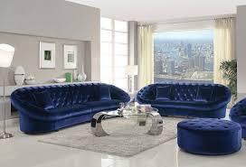 furniture blue velvet sofa freshen the room in your house