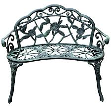 Antique Cast Iron Garden Benches For Sale by Outsunny 40 Cast Iron Antique Rose Style Outdoor Patio Garden P