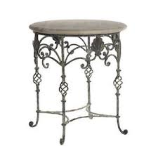 Accent End Table Wrought Iron Ella Deep Ocean Round Accent End Side Table Ebay