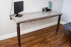 Diy Pipe Desk by The Duffle Family Concrete Desk And Pipe Shelves Office