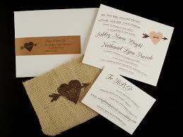 burlap wedding invitations nathan s whimsical and rustic burlap wedding invitations