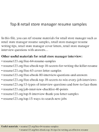 Resume Templates For Retail Top 8 Retail Store Manager Resume Samples 1 638 Jpg Cb U003d1430038744