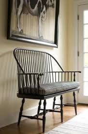 rectangle back windsor bench seat farmhouse country bench seat
