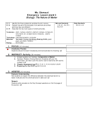Mortgage Loan Officer Resume Sample by Lesson Plan Emergency Bio