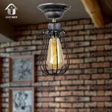 Barn Light Originals by Unitary Brand Vintage Barn Metal Mini Semi Flush Mount Light Max