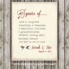 40th anniversary gifts for parents 40 year anniversary gifts gifts for parents grandparents