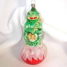 sterling tree glass frog ornament or