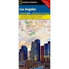 Los Angeles City Map Los Angeles Destination City Map National Geographic Store
