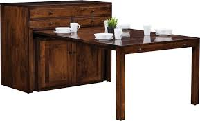 pull out table buffet with transitional dining table