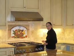kitchen mural backsplash harvest basket tile mural mediterranean kitchen san diego