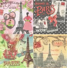 serviette en papier vintage serviette en papier paris passioncreationcollection