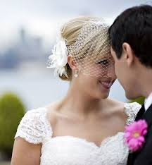 bridal fascinator veil set feather headpiece flower hair clip