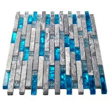 mosaic tile picture more detailed picture about sea blue glass