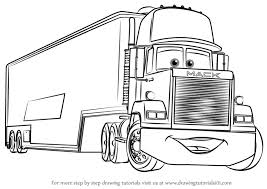 learn how to draw mack from cars 3 cars 3 step by step drawing