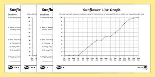 sunflower line graph worksheet line graph worksheet line