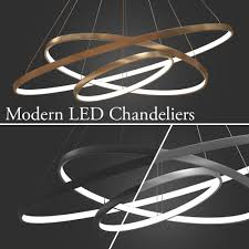 Chandeliers Led 3d Chandeliers Led 3 Rings Cgtrader