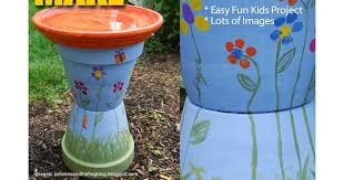 Flower Pot Bird Bath - how to make a clay pot birdbath