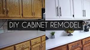 how to paint cabinets white without sanding diy how to paint cabinets without sanding vlog
