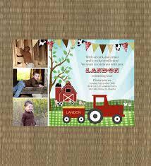 farm birthday invitations kid s barn photo card