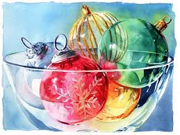 watercolor of ornaments welcome to my boards