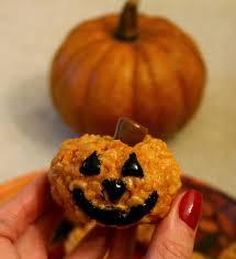 Rice Crispy Treat Pumpkins Sweets And Style Just Right Pumpkin Peanut Butter Rice Krispies