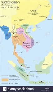 Southeastern Asia Map by Carthography Historical Maps Modern Times South East Asia