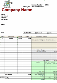 Invoice Template For Excel 2007 Billing Invoice Template With Automatically Marks Up Materials