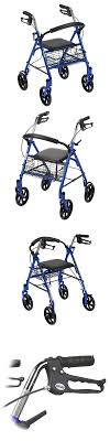 senior walkers with seat walkers and canes rollator walker with seat steel wheelchair