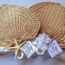 Wedding Program Hand Fans Palm Leaf Hand Fans Raffia Fans Wedding Fans Beach Wedding