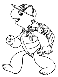 Franklin The Turtle Wearing Scarf Coloring Pages Batch Coloring Franklin Coloring Pages
