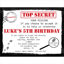 21 personalized birthday invitation templates u2013 free sample