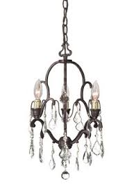 Flush Mount Mini Chandelier Features Annelise Collection Comes With Crystal Drops