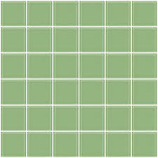 glass tile 2x2 inch retro mint green glass tile