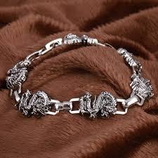 stainless steel mens bangle bracelet images Handmade retro stainless steel charm dragon bracelet men vintage jpg