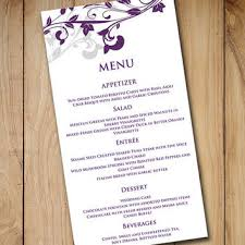 wedding menu card template download from paintthedaydesigns on