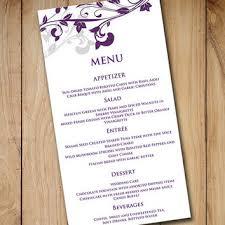 diy wedding menu cards wedding menu card template from paintthedaydesigns on
