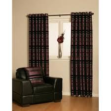 Aubergine Curtains Living Vanity Aubergine Stripe Readymade Eyelet Curtain