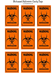 biohazard candy tag halloween printable everyday parties