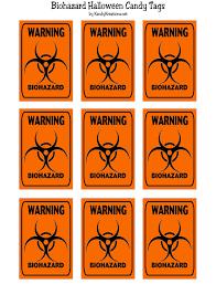 halloween printable biohazard candy tag halloween printable everyday parties