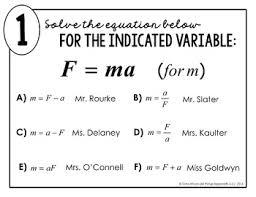 literal equations math lib by all things algebra tpt