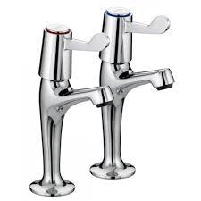 Bristan Value Lever High Neck Pillar Taps Amazoncouk Kitchen - Kitchen sink pillar taps