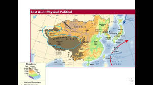 East Asia Physical Map by 1 Physical Geography Of East Asia Youtube