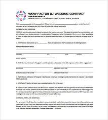 example dj contract template templatezet