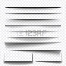 paper sheet shadow effect vector transparent realistic shadows
