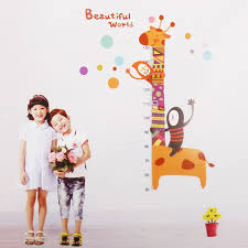 kids growth chart height measure wall sticker for diy kid s room kids growth chart height measure wall sticker for diy kid s room multiple designs