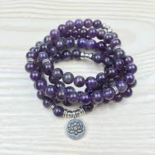 natural beads bracelet images 108 natural amethyst stone mala prayer beads bracelet free jpg