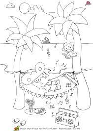 coloriage vacances girafette hamac sur hugolescargot com