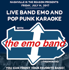 nashville is the reason presents live band emo u0026 pop punk karaoke